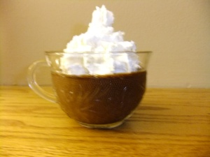 If you're wondering, I used Kahlua in my recipe. Really works well with the coffee flavor.