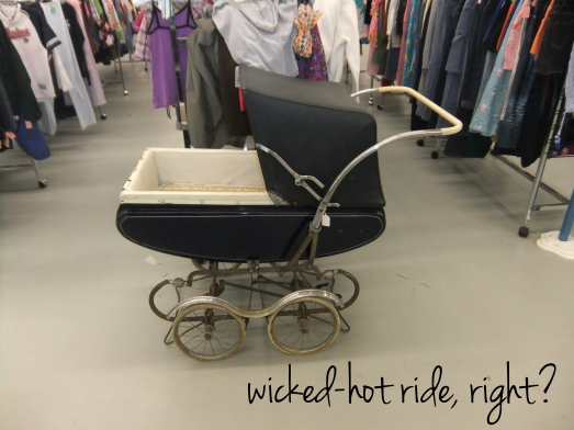 I Almost got Litte K a new pram (every baby needs a pram, right?), but at $99.98 it was a little out of my price range.
