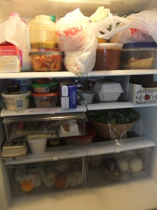 This is what my refrigerator looked like pre-game. Yikes.