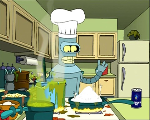 futurama_bender_cooking_chicken
